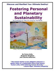 Fostering Personal & Planetary Sustainability Book